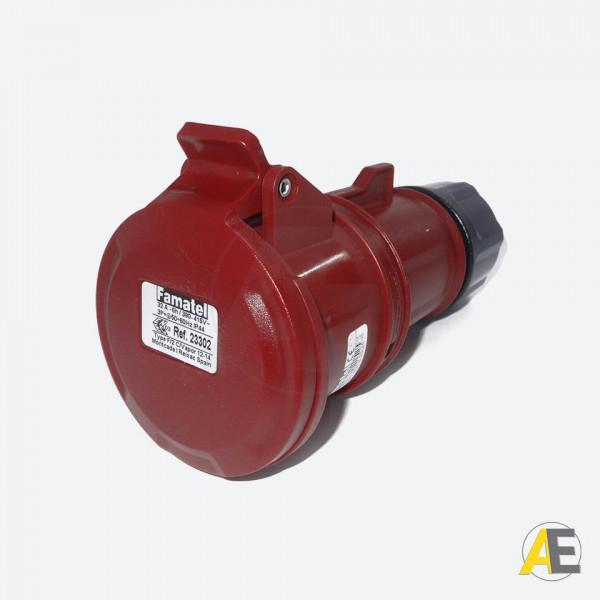 Tomada Industrial 32A - 380/440V - 3P+T 6H - IP44 23302 - Famatel