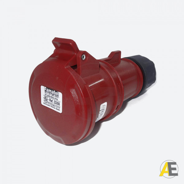 Tomada Industrial 32A - 380/440V - 2P+T  9H - IP44 23305 - Famatel