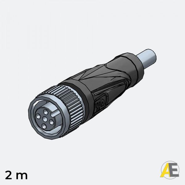 Cabo Conector M12 / 4 Polos-Reto V1-G-2M-PVC - Pepperl+Fuchs