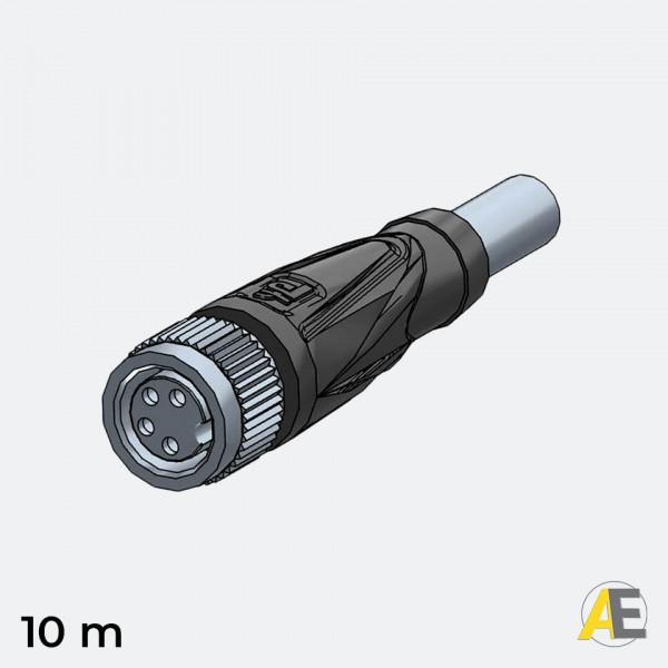 Cabo Conector M8 / 4 Polos - Reto V31-GM-10M-PVC Pepperl+Fuchs