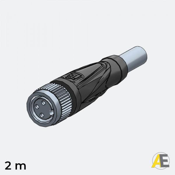 Cabo Conector M8 / 3 Polos - Reto V3-GM-2M-PVC Pepperl+Fuchs